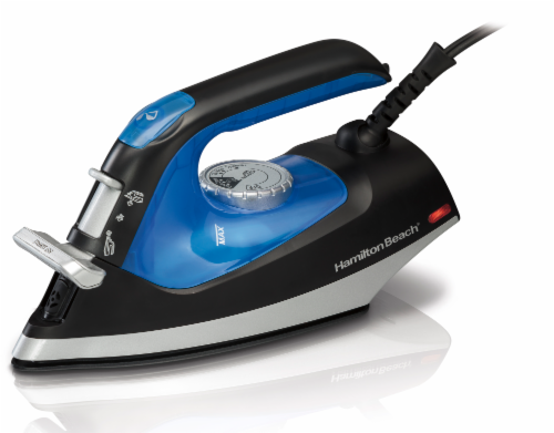 Hamilton Beach Flip Handle Iron and Steamer - Black/Blue/Gray Perspective: front