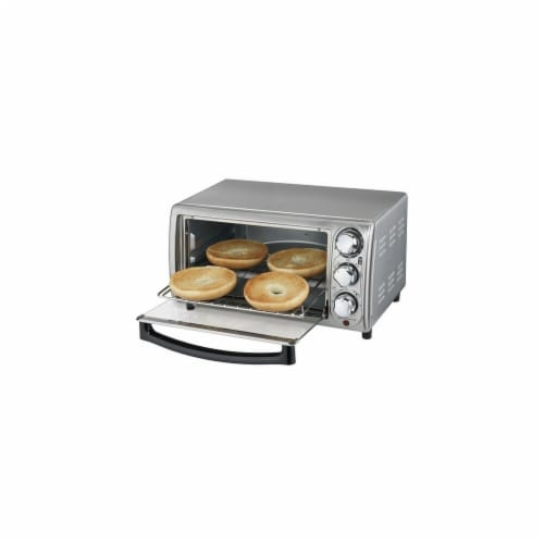 Hamilton Beach 31143HB 4-Slice Stainless Steel Toaster Oven, Silver Perspective: front