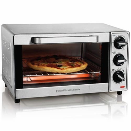 Hamilton Beach 31401 4-Slice Stainless Toaster Oven Perspective: front