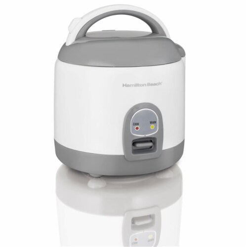 Hamilton Beach White 8 Cups Programmable Rice Cooker Perspective: front