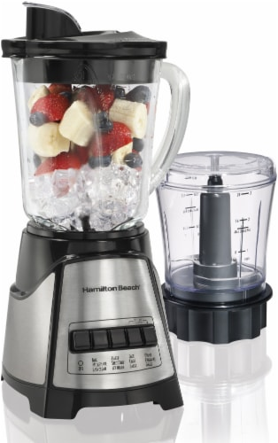 Hamilton Beach Stainless Steel Blender - Silver/Black Perspective: front