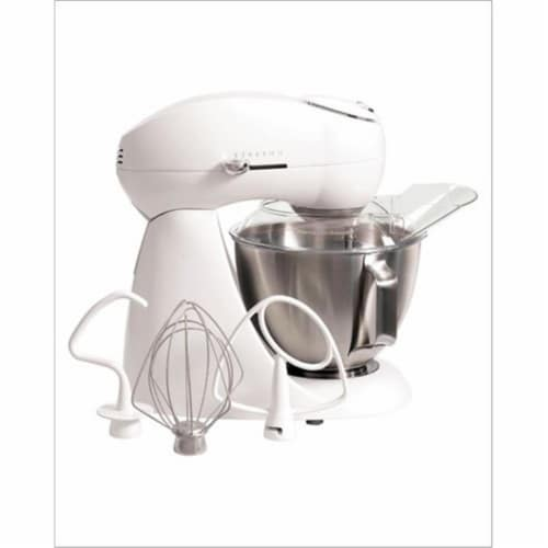 Hamilton Beach 63221 Eclectrics All-Metal Stand Mixer in Sugar Perspective: front