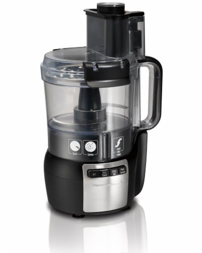 Hamilton Beach Stack and Snap™ Food Processor - Black Perspective: front