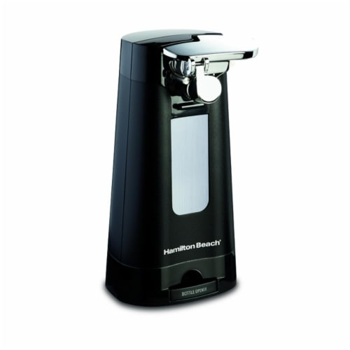 Hamilton Beach 6007254 Black Electric Can Opener Magnetic Lid Holder Perspective: front