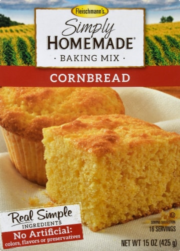 Fleischmann's Simply Homemade Cornbread Baking Mix Perspective: front