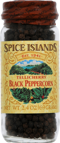 Spice Islands Whole Black Peppercorn Jar Perspective: front