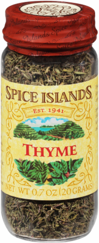 Spice Islands Thyme Jar Perspective: front