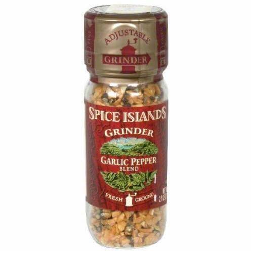 Spice Islands Garlic Pepper Grinder Perspective: front