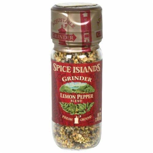 Spice Islands Lemon Pepper Grinder Perspective: front