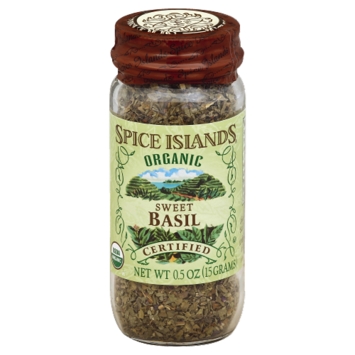 Spice Islands 100% Organic Sweet Basil Perspective: front