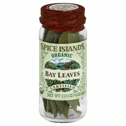Spice Islands 100% Organic Bay Leaves Perspective: front