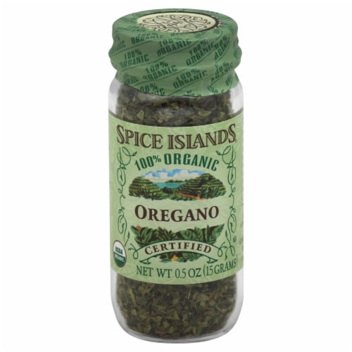 Spice Islands 100% Organic Oregano Perspective: front