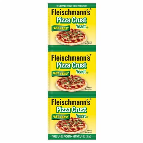 Fleischmann's Pizza Crust Yeast 3 Count Perspective: front