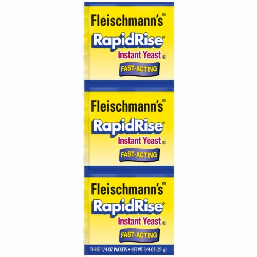 Fleischmann's Fast-Acting RapidRise Instant Yeast Packets Perspective: front