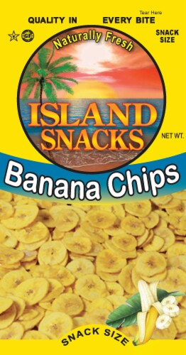 Island Snacks Banana Chips Perspective: front