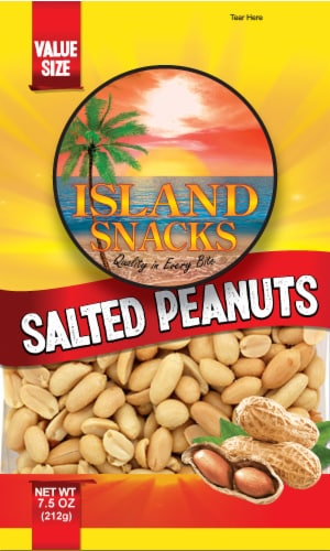Island Snacks Salted Peanuts Value Size Perspective: front