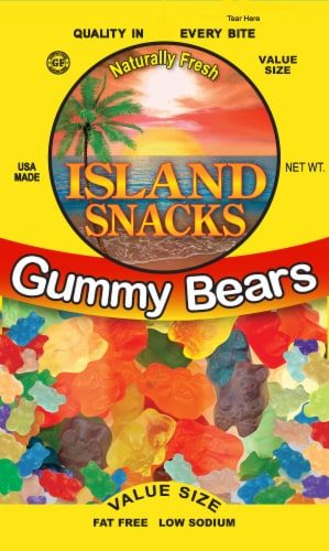 Island Snack Gummy Bears Value Size Perspective: front