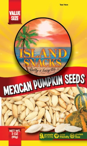 Island Snacks Mexican Pumpkin Seeds Perspective: front
