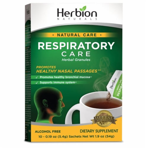 Herbion Respiratory Care Herbal Granules Sachets 10 Count Perspective: front