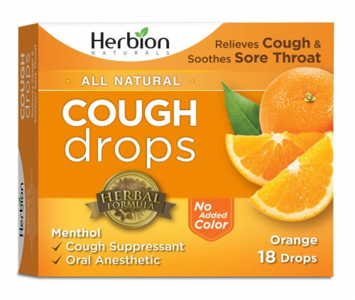 Herbion All Natural Cough Drops - Orange Perspective: front