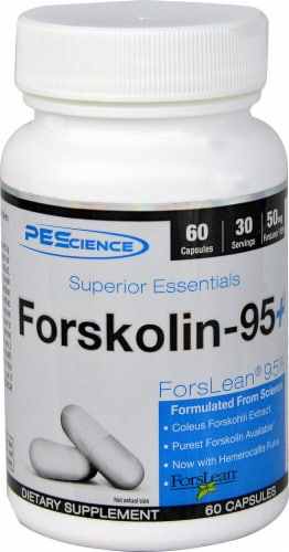 PEScience Forskolin95 Plus Dietary Supplement Perspective: front