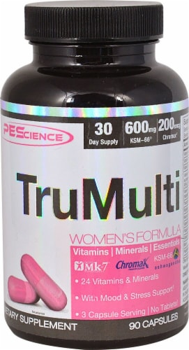 PEScience TruMulti Women's Formula Capsules Perspective: front