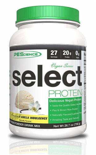 PEScience Vanilla Vegan Protein Perspective: front