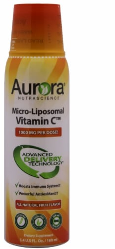 Aurora Nutrascience Micro Liposomal Vitamin C Dietary Supplement Perspective: front
