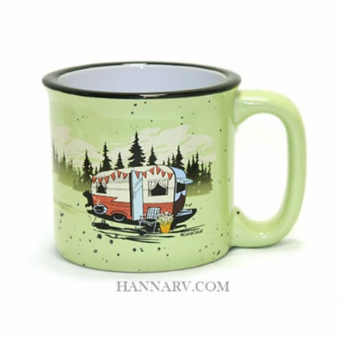 Camp Casual 15 oz. Beary Green Mug Perspective: front