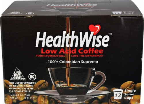 HealthWise Low Acid Coffee Single Serve Cups Perspective: front