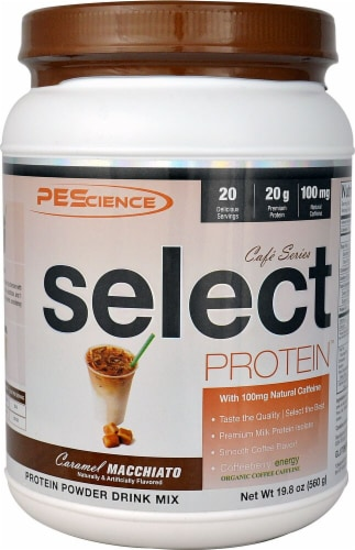 PEScience  Select  Cafe Protein™   Caramel Macchiato Perspective: front
