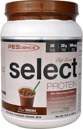 PEScience  Select Cafe Protein™   Iced Mocha Perspective: front