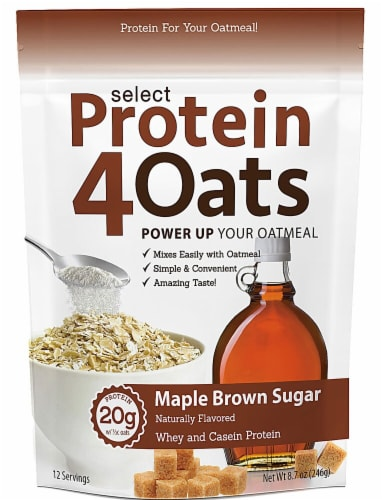 PEScience  Select Protein4Oats   Maple Brown Sugar Perspective: front
