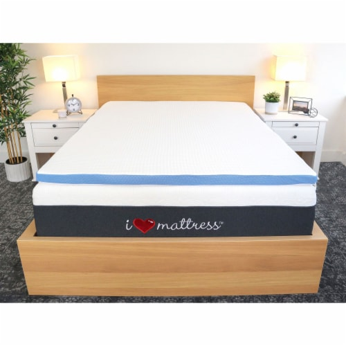 I Love Pillow Out Cold Gel Infused Memory Foam Copper Mattress Cover, Queen Perspective: front