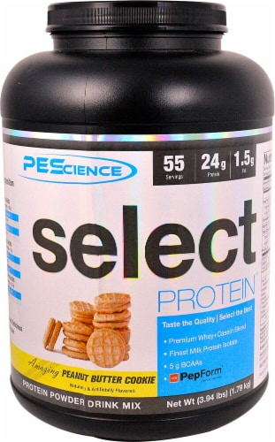 PEScience Select Protein Peanut Butter Perspective: front
