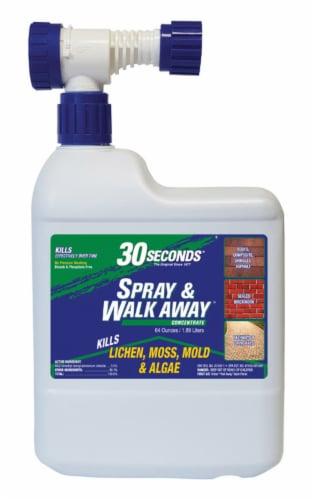 30 SECONDS Spray & Walk Away Lichen, Moss, Mold, Algae Killer 64 oz. - Case Of: 1; Perspective: front