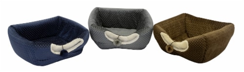 Dallas Manufacturing Small Pet Collapsible Cube Bed - Assorted Perspective: front