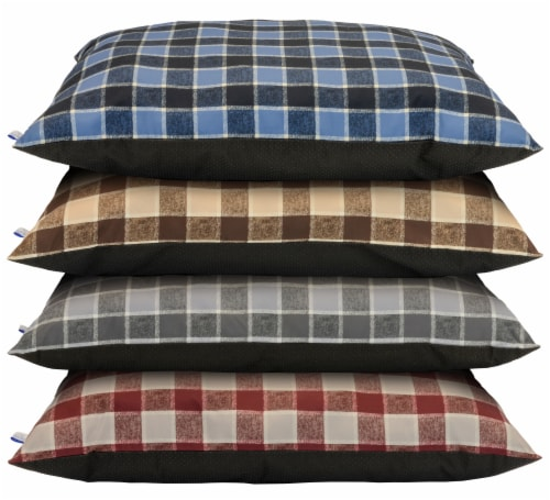 Dallas Plaid Pet Pillow - Assorted Perspective: front