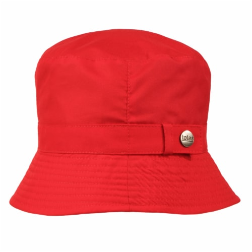 Totes Women's Bucket Rain Hat - Red Perspective: front