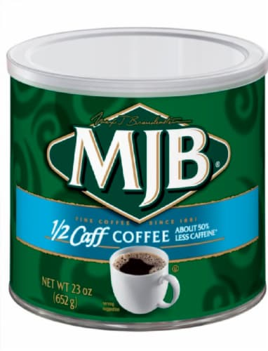 MJB Half Caffeine Ground Coffee Perspective: front