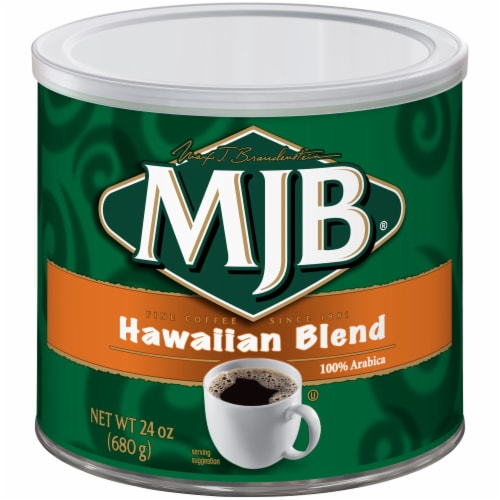 MJB Hawaiian Blend Ground Coffee Perspective: front