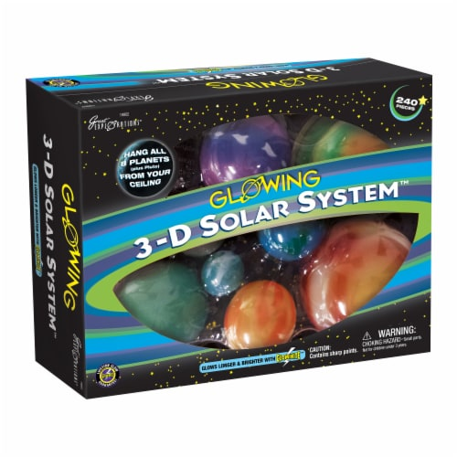 Great Explorations Glowing 3-D Solar System Perspective: front