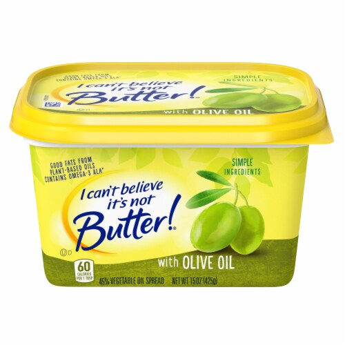I Can't Believe It's Not Butter! Mediterranean Blend Vegetable Oil Spread Perspective: front