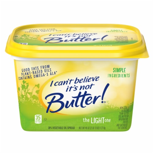 I Can't Believe It's Not Butter! The Light One Vegetable Oil Spread Perspective: front
