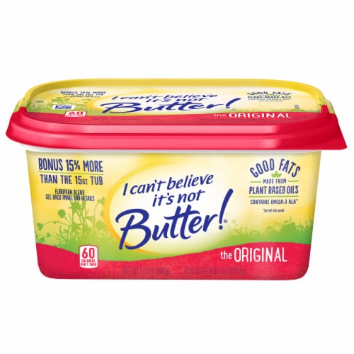 I Can't Believe It's Not Butter! Original Spread Perspective: front