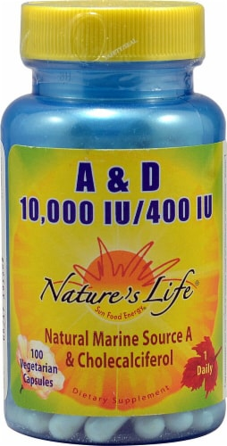 Nature's Life  A and D Capsules Perspective: front