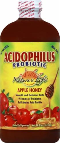 Nature's Life Acidophilus Probiotic Apple Honey Probiotic Drink Perspective: front