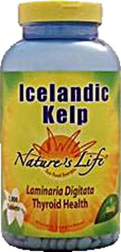 Nature's Life Icelandic Kelp 500 mg Tablets Perspective: front