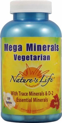 Nature's Life  Mega Minerals Vegetarian Perspective: front