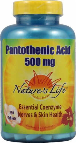 Nature's Life  Pantothenic Acid Perspective: front